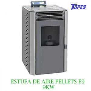 ESTUFA DE AIRE PELLETS E9 KW