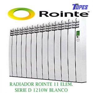 RADIADOR ROINTE 11 ELEM.SERIE D 1210W BLANCO