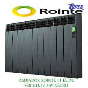RADIADOR ROINTE 11 ELEM.SERIE D.1210W NEGRO