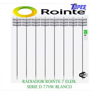 RADIADOR ROINTE 7 ELEM.SERIE D 770W BLANCO