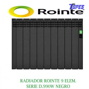 RADIADOR ROINTE 9 ELEM.SERIE D 990W NEGRO