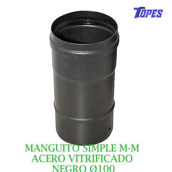 MANGUITO SIMPLE M-M ACERO VITRIFICADO NGØ100