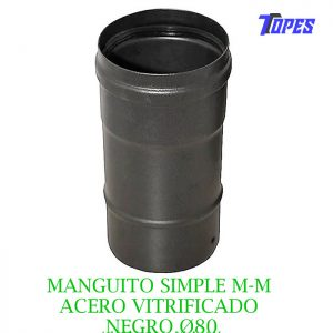 MANGUITO SIMPLE M-M ACERO VITRIFICADO NGØ80