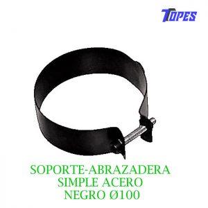 SOPORTE-ABRAZADERA SIMPLE ACERO NEGRO Ø100