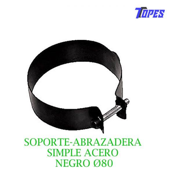 SOPORTE-ABRAZADERA SIMPLE ACERO NEGRO Ø80