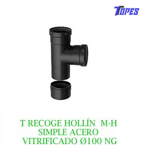 T RECOGE HOLLÍN M-H SIMPLE ACERO VITRIFICADO Ø100 NG