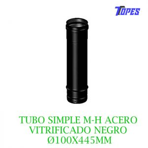 TUBO SIMPLE M-H ACERO VITRIFICADO NG Ø100X445mm