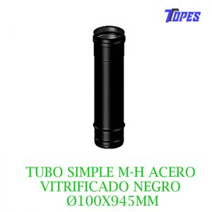 TUBO SIMPLE M-H ACERO VITRIFICADO NG Ø100X945mm