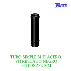 TUBO SIMPLE M-H ACERO VITRIFICADO NG Ø100X275 mm