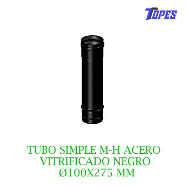 TUBO SIMPLE M-H ACERO VITRIFICADO NG Ø100X275 mm