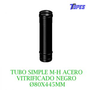 TUBO SIMPLE M-H ACERO VITRIFICADO NG Ø80X445mm