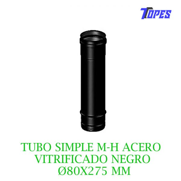 TUBO SIMPLE M-H ACERO VITRIFICADO NG Ø80X275mm