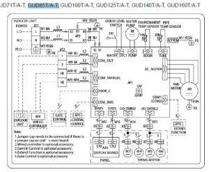 DIAGRAMA ELECTRÓNICO GUD85T/A-T.