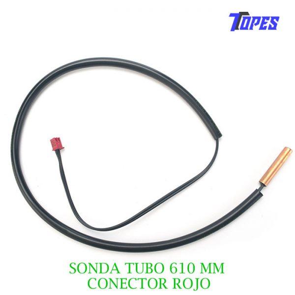 SONDA TUBO 610MM CONECTOR ROJO