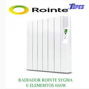 RADIADOR ROINTE SYGMA 6 ELEM. 660W
