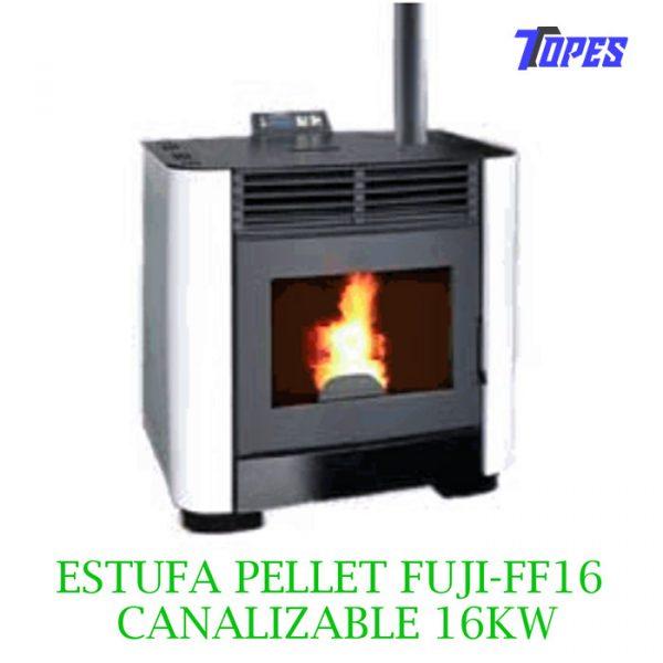 ESTUFA PELLET FUJI-FF16 CANALIZABLE 16KW