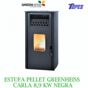 ESTUFA PELLET GreenHeiss CARLA 8,9 KW NEGRA