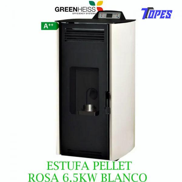 ESTUFA PELLET GreenHeiss ROSA 6,5KW BLANCO