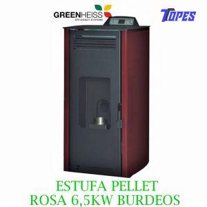 ESTUFA PELLET GreenHeiss ROSA 6,5KW BURDEOS