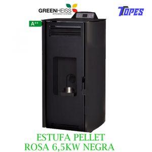 ESTUFA PELLET GreenHeiss ROSA 6,5KW NEGRA